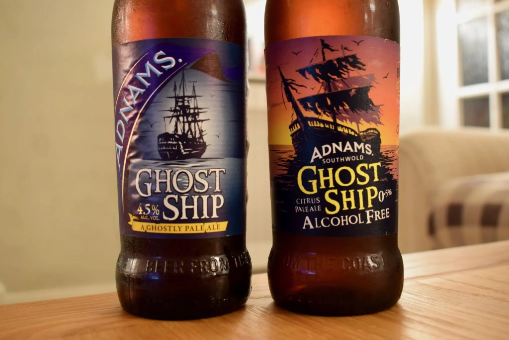 Adnams Ghost Ship alcohol-free beer comparison
