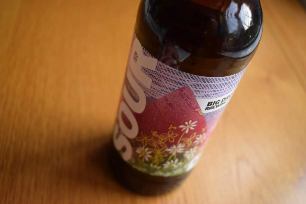 Big Drop Sour - label close up on bottle