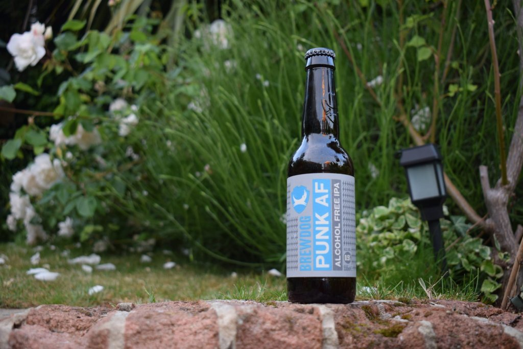 Brewdog Punk AF alcohol-free beer bottle