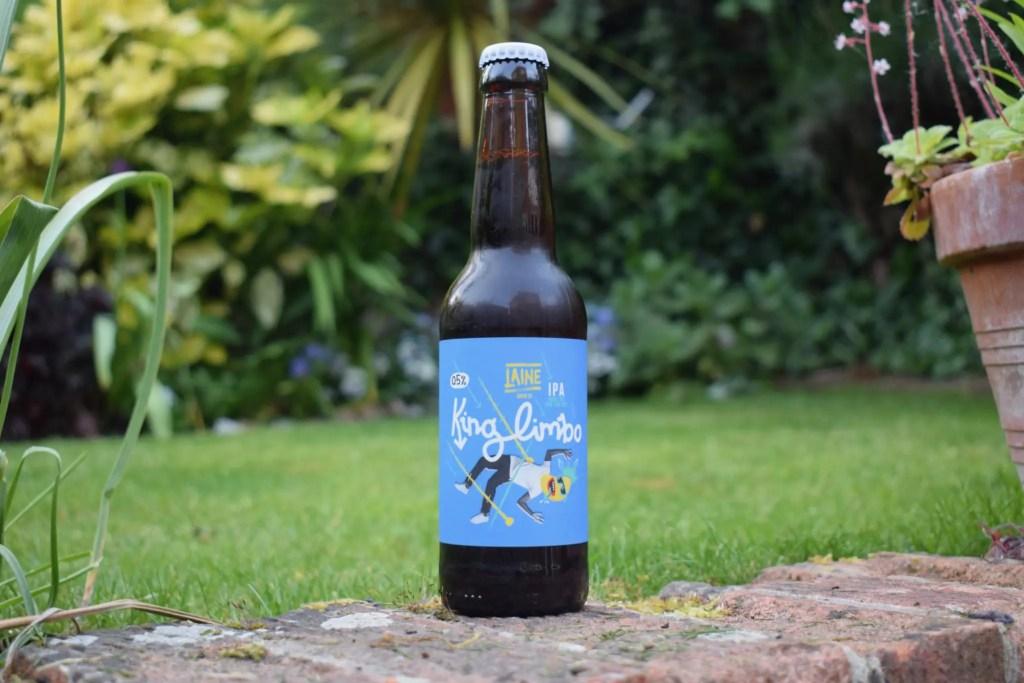 Bottle of Laine Brew Co King Limbo alcohol-free IPA