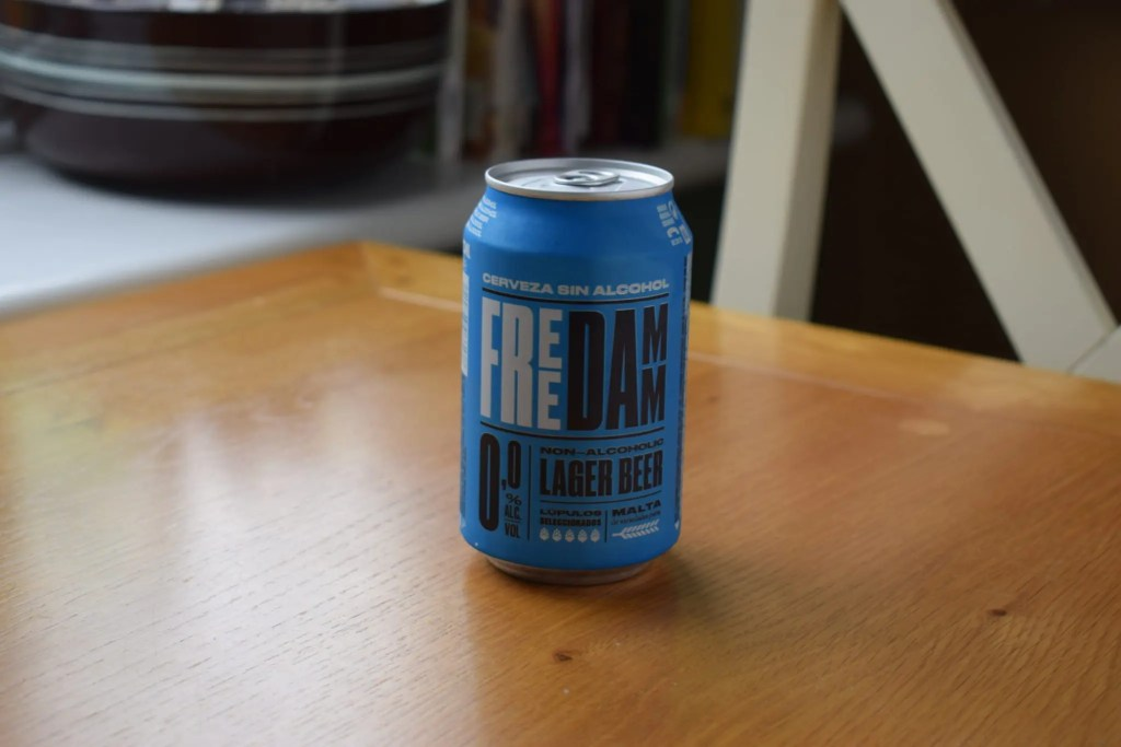 Can of Free Damm alcohol-free lager