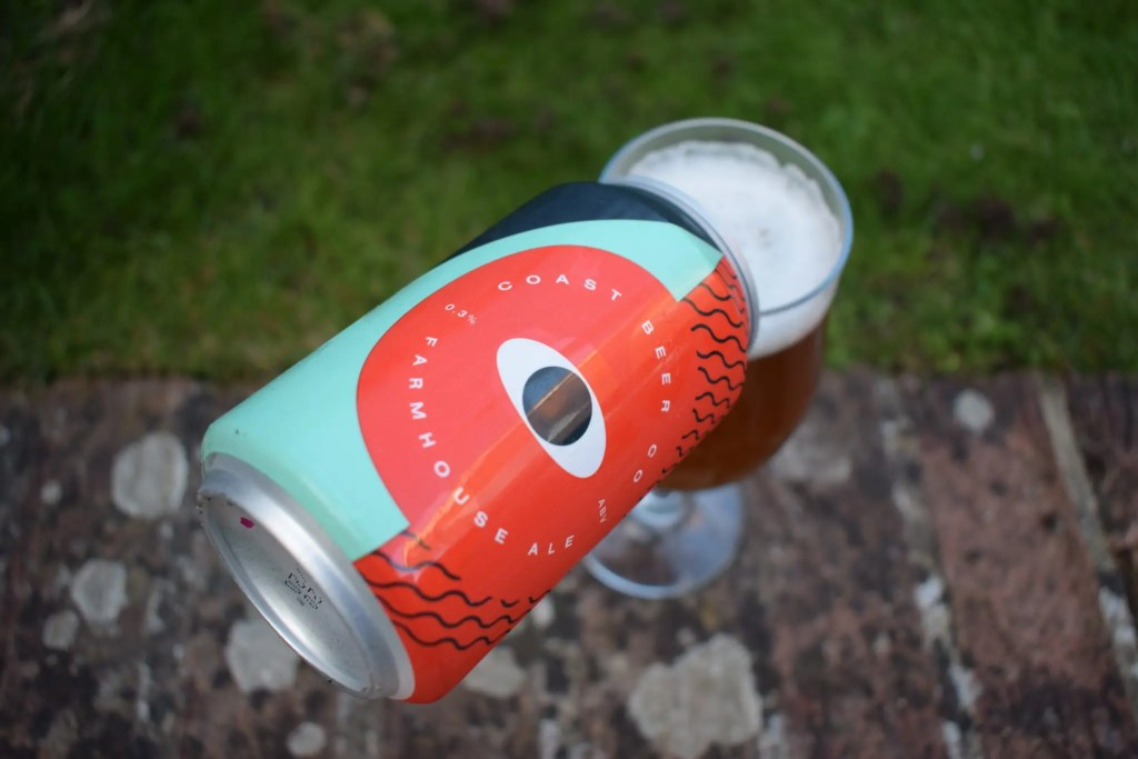 Coast Beer Co Farmhouse Ale can and glass