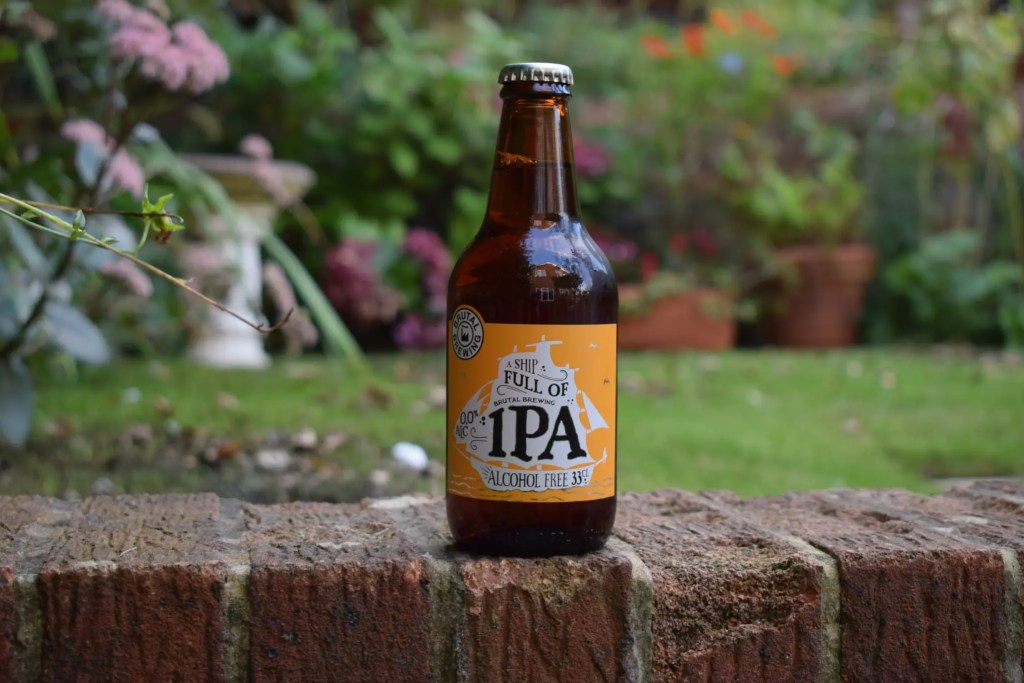 Brutal Brewing non-alcoholic Ship Full of IPA bottle
