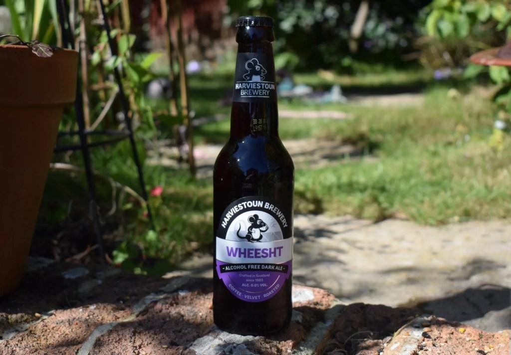 Harviestoun Wheesht bottle of ruby ale