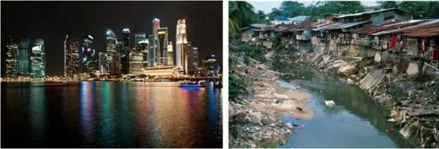 Singapore and Malaysian Slum