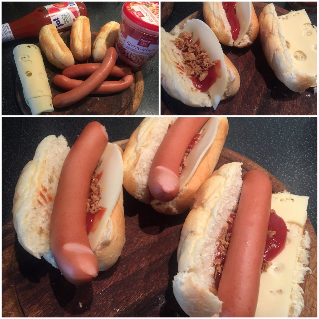 Schnelle Hot Dogs