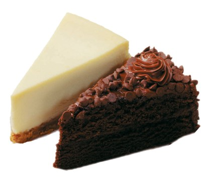 cheesecake & chocolate Cake