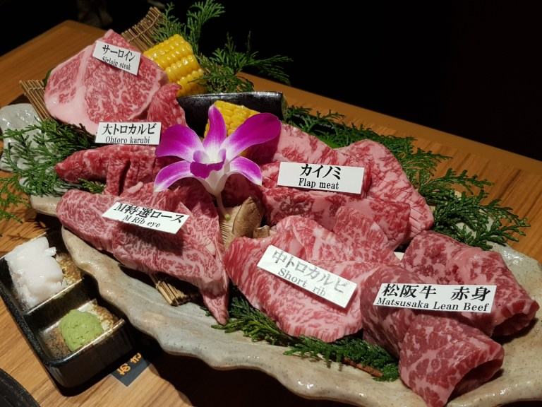 An image of the Matsusaka DX Platter at Yakiniku M