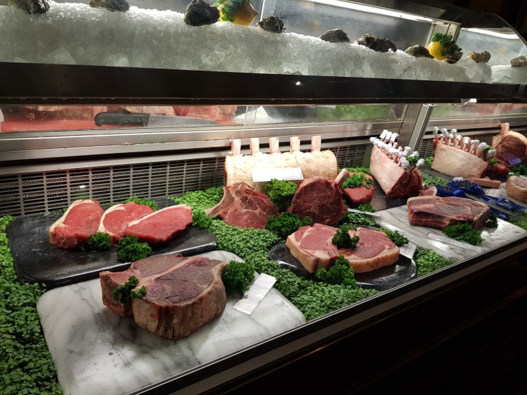An image of the beef display at the guinea grill