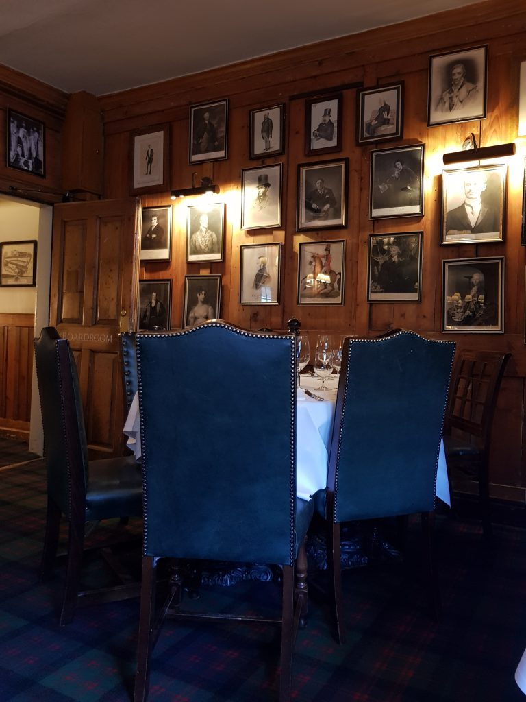 An image of the boardroom at the Guinea Grill