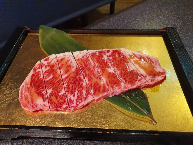 An image of A5 Matsusaka Sirloin steak