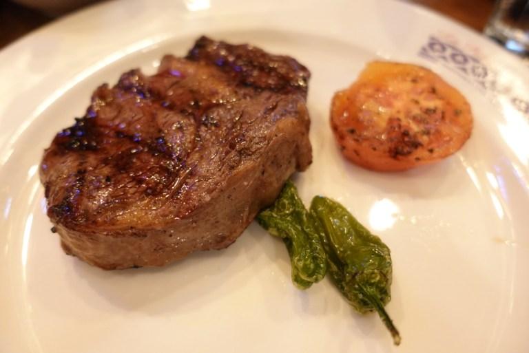 An image of rib eye steak at La Patagonia