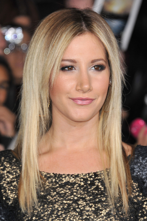 Ashley Tisdale Straight Ash Blonde Hairstyle Steal Her Style