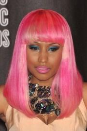 nicki minaj's pink wig with bangs