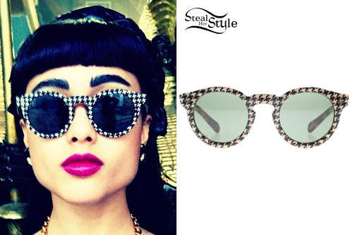 Natalia Kills: Houndstooth Sunglasses