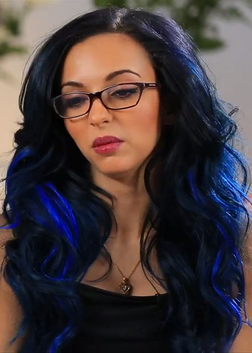 Jade Thirlwall Wavy Black All Over Highlights Hairstyle