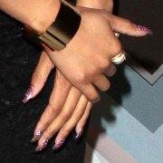 nicki minaj clear glitter nails