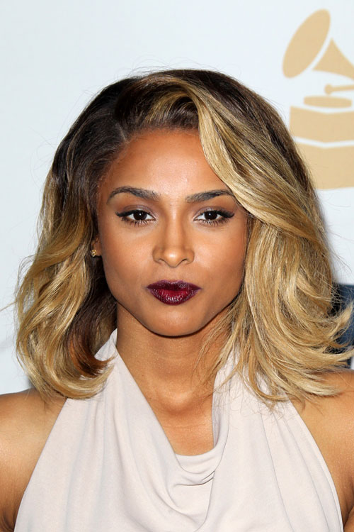 Ciara Wavy Honey Blonde Ombr Hairstyle Steal Her Style