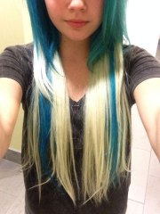bea miller straight blue extensions
