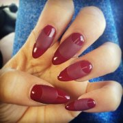 zendaya burgundy moon nails