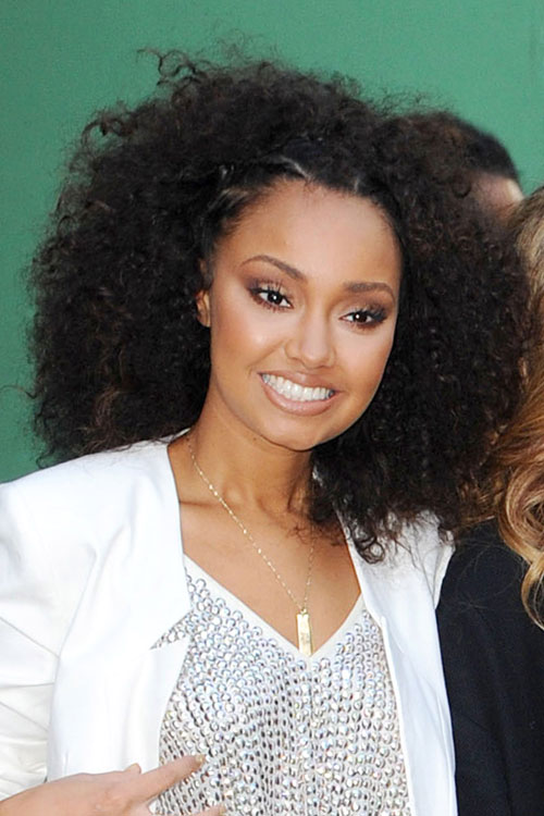 Leigh Anne Pinnock Curly Teased Black Afro Hairstyle