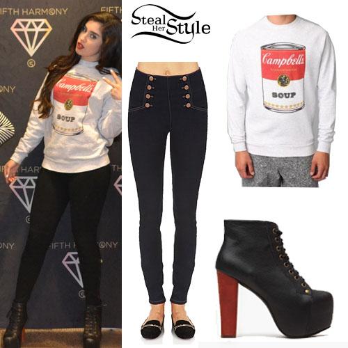 Lauren Jauregui Soup Sweater Platform Boots  Steal Her