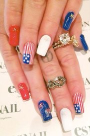 chanel west coast blue red white