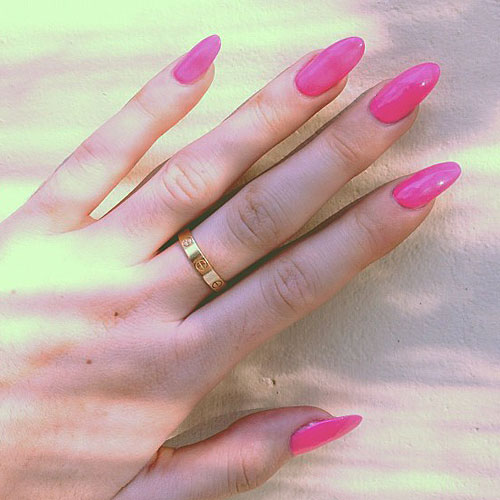 Kylie Jenner Hot Pink Nails  Steal Her Style