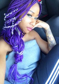 Diamond Straight Purple Braid, Braids Hairstyle | Steal ...