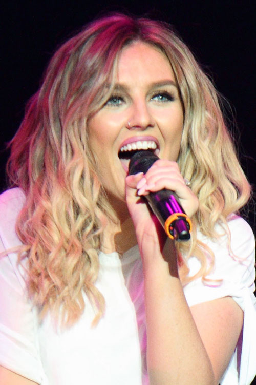 Perrie Edwards Curly Ash Blonde Hairstyle  Steal Her Style