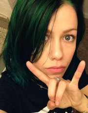 celebrity green hairstyles page