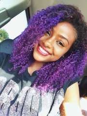 justine skye curly purple afro