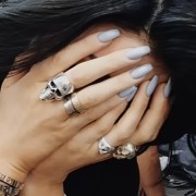kylie jenner light blue nails