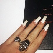 coffin shaped nails of
