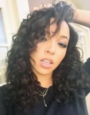 tinashe wavy black barrel curls