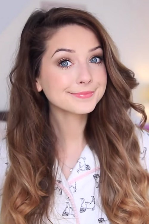 Zoella Wavy Medium Brown Loose Waves Ombr Hairstyle