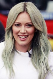 hilary duff wavy green silver