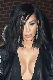 kim kardashian straight black messy