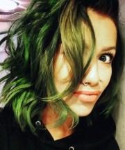 jenna mcdougall wavy green shaggy