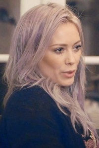 Hilary Duff Straight Silver Overgrown Bangs Hairstyle ...