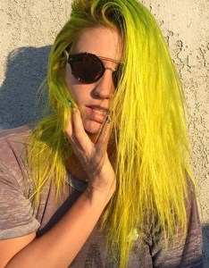 also kesha straight yellow uneven color hairstyle steal her style rh stealherstyle