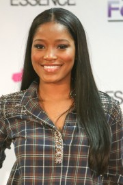 keke palmer straight black flat-ironed