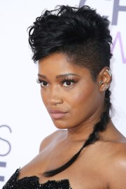 keke palmer wavy black braid mohawk