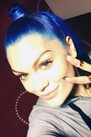 jessie straight blue bun