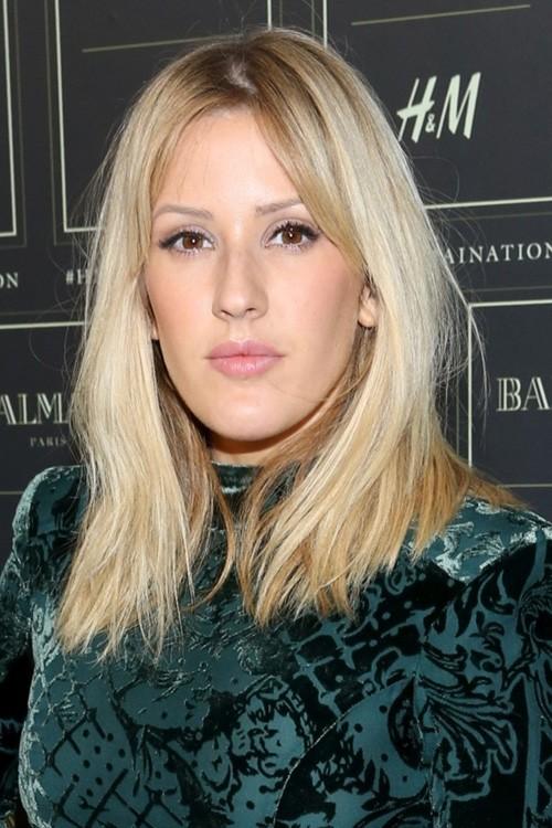 Ellie Goulding Straight Ash Blonde Blunt Cut Bob