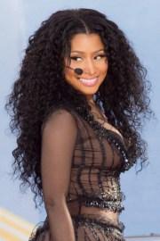 nicki minaj curly black afro hairstyle