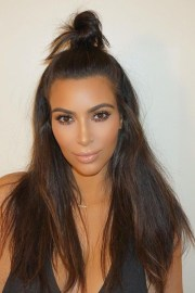 kim kardashian straight dark brown