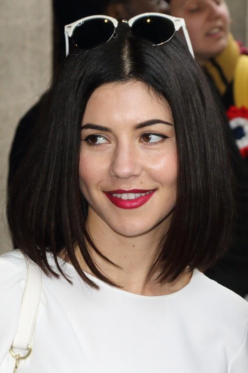 Marina Diamandis Straight Dark Brown Bob Hairstyle Steal