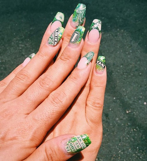 Dollar Bills Nails