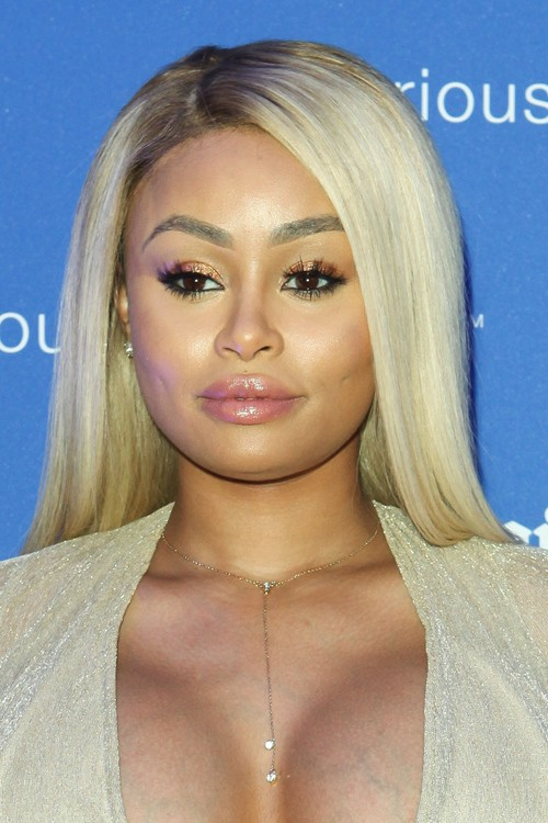 Blac Chyna Straight Ash Blonde Dark Roots FlatIroned Hairstyle  Steal Her Style